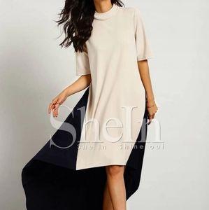 NWOT Color Block High Low Dress